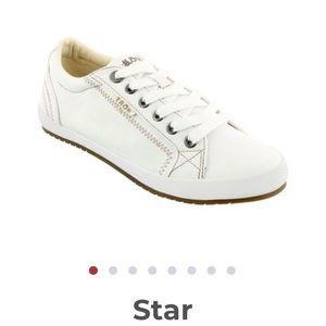 Taos white canvas Star sneakers